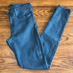 Flying Monkey Jeans Mid Rise Skinny Size 27 Teal